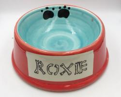 Pet Food/Water Bowl and Clay Tag Painting deal image